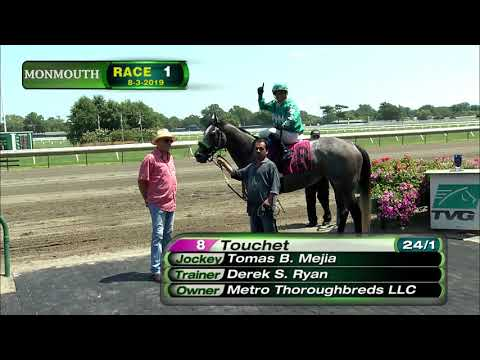 video thumbnail for MONMOUTH PARK 8-3-19 RACE 1