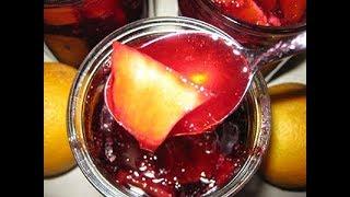 Желе из красной смородины с дольками апельсина на зиму!
