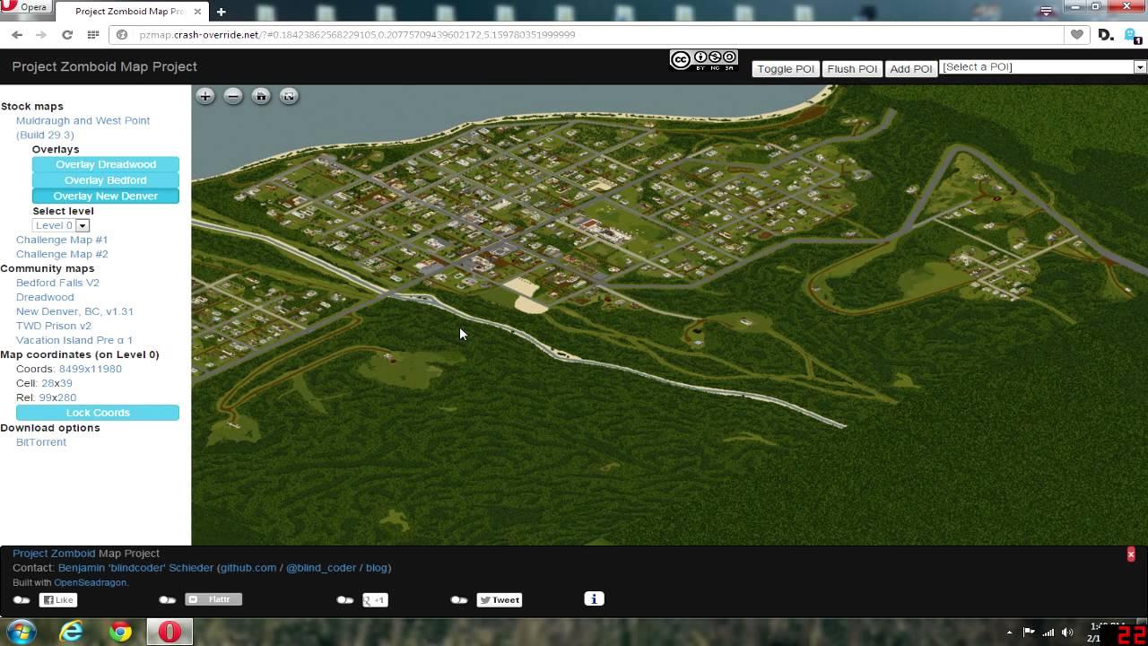 Project Zomboid Map