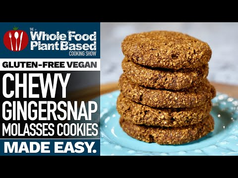 VEGAN GINGERSNAP MOLASSES COOKIES 🍪 Chewy and delicious treats!