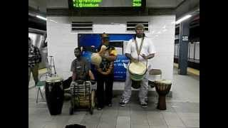African Music playing in the Subway of NYC