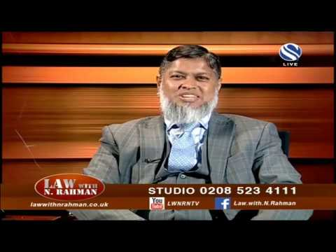 Law With N Rahman Live Stream  03 November 2018 at Channel S SKY 734