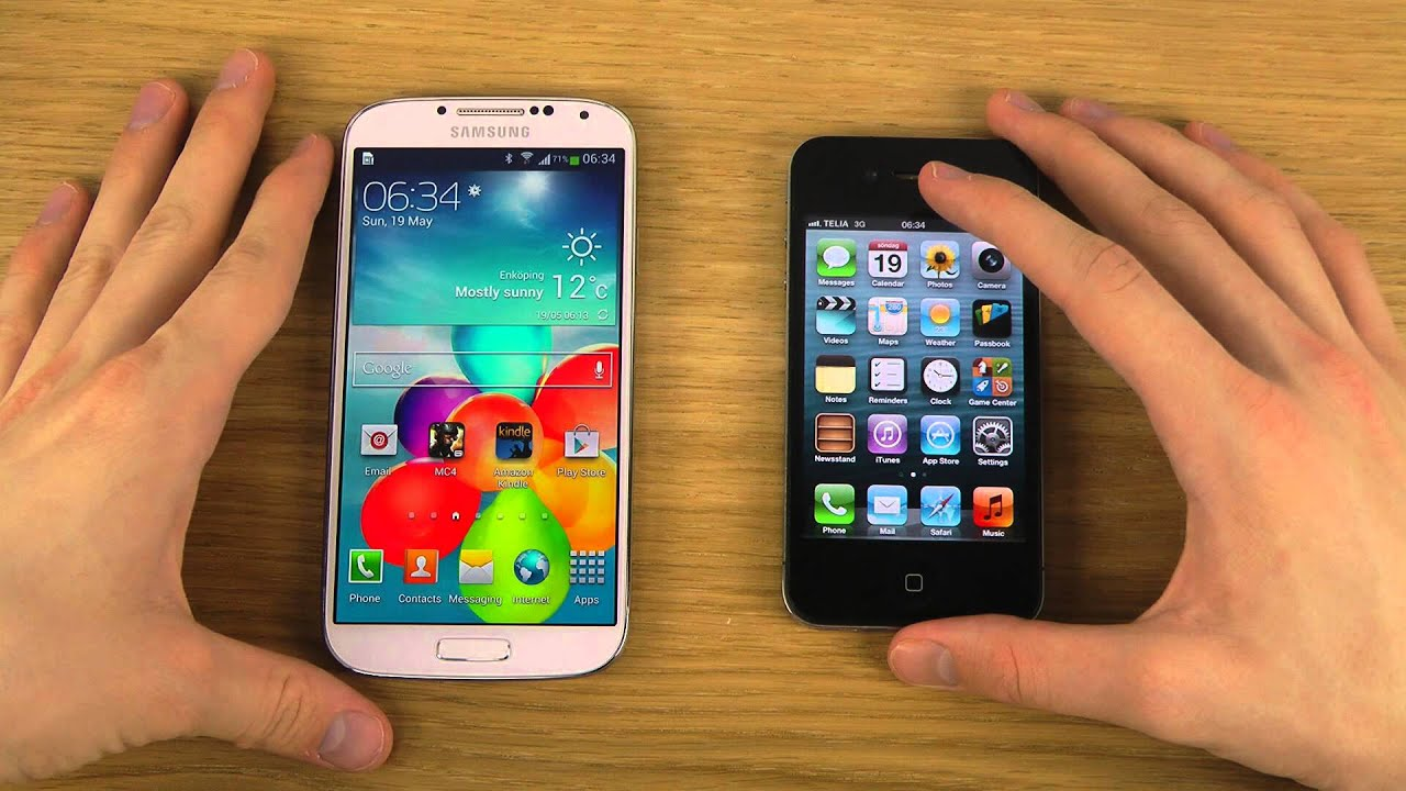 galaxy vs iphone samsung galaxy s4 vs iphone 4 review 2208