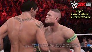 WWE 2K15 Top 5 Best My Career Mode Cutscenes! (PS4)
