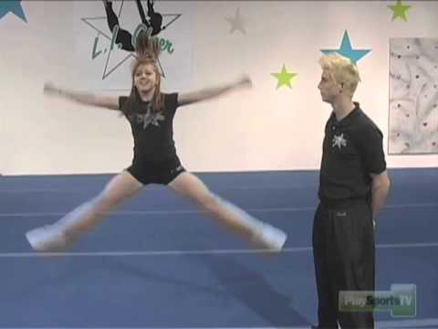 Basic Jumps: Tuck and Spread Eagle  Cheerleading Drills