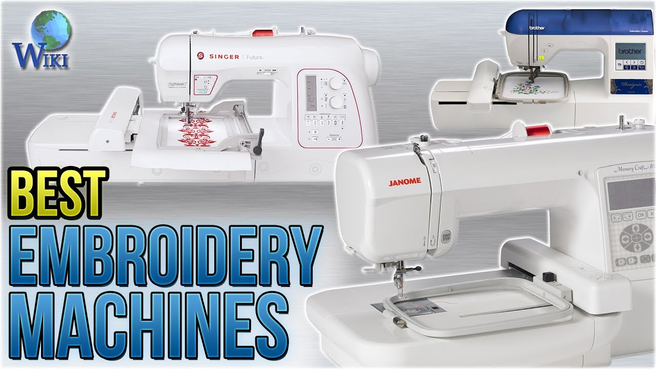 9 best embroidery machines 2018
