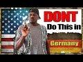 10 Dont Do's in Germany   Deutsche kultur