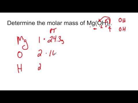 Calculating Molar Mass Of Mg(OH)2