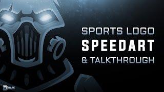 Cyborg eSports Logo | Gaming Logo Tutorial | DaseDesigns