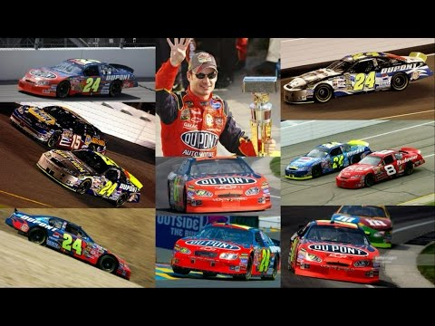 All 5 of Jeff Gordon's Wins in 2004 (Finishes) Jeff Gordon E