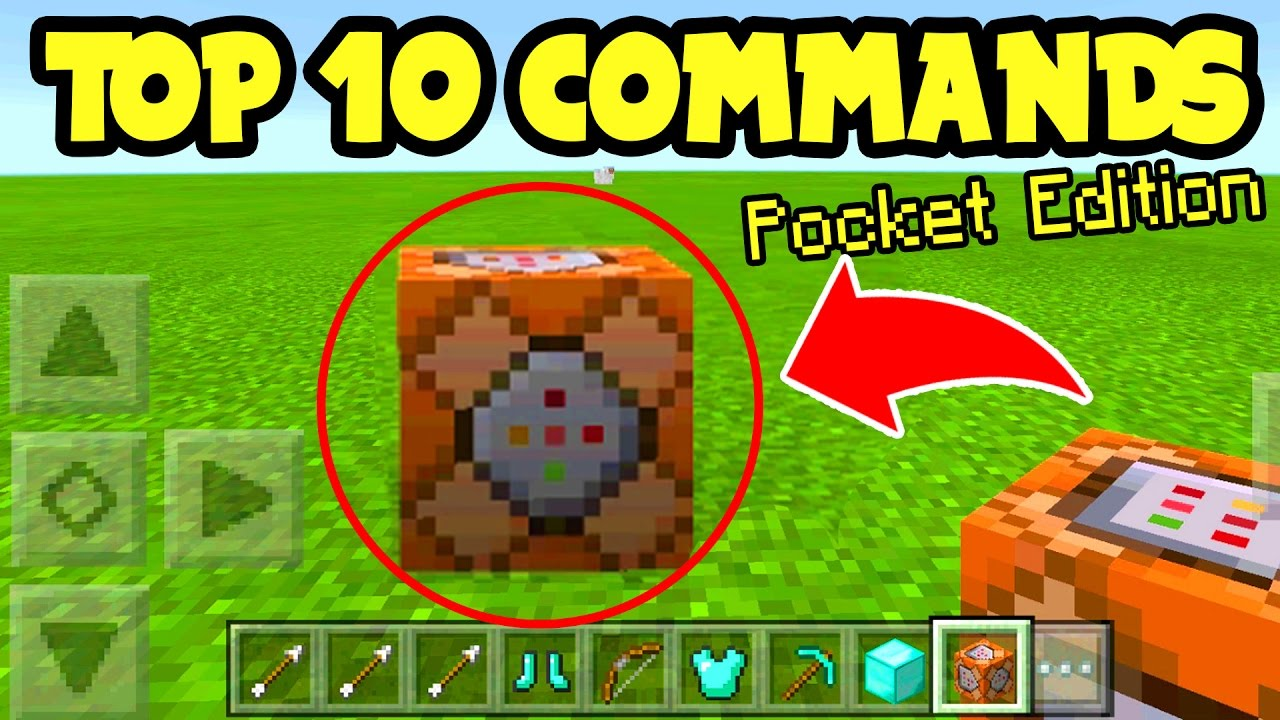 TOP 10 Command Block Build Uses in Minecraft Pocket Edition // Minecraft PE  1 0 5 Update Gameplay