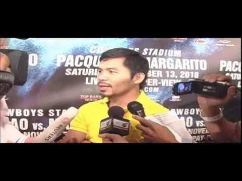 Manny Pacquiao Talks About Antonio Margarito