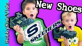HobbyKids Get NEW SHOES! Skechers Shopping Haul, Fashion Store by HobbyKidsVids