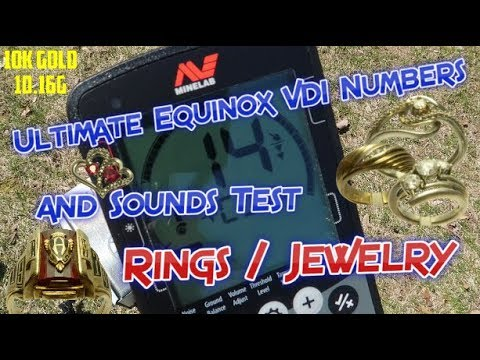 Ultimate Minelab Equinox 600 / 800 VDI Numbers and Sounds - Gold, Silver, Platinum Rings / Jewelry