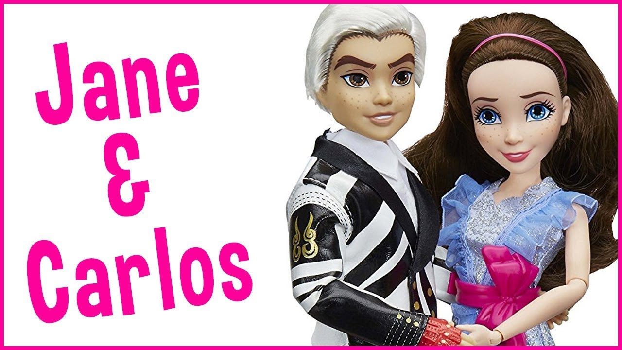 Disney Descendants Two-Pack Jane Auradon Prep and Carlos Isle of the Lost