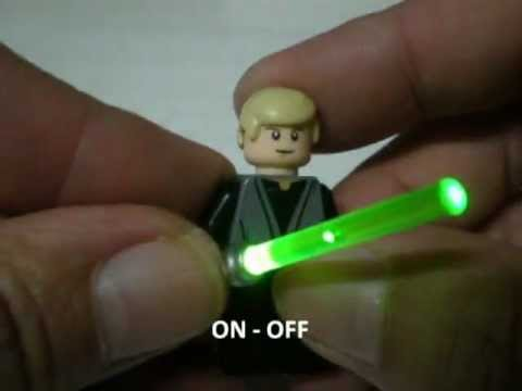 "Lego Star Wars "" Luke Skywalker "" custom light up saber ..."