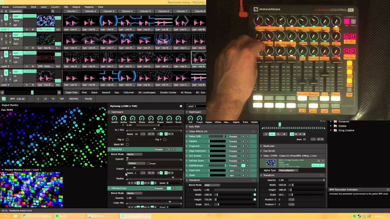 Novation Launch Controller XL Review and Resolume 5 MIDI