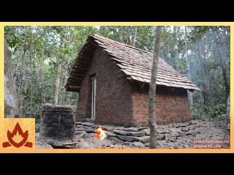Our favourite primitive builder is back: Building a tiled roof hut