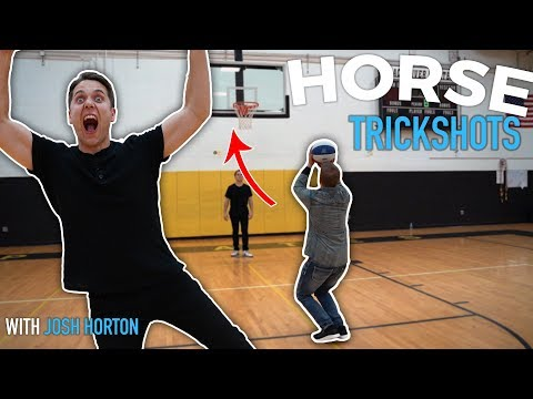 TRICK SHOT HORSE CHALLENGE | Ft. Josh Horton | Rick Smith Jr