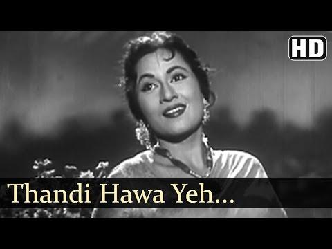Thandi Hawa Yeh Chandni Suhani- Jhumroo Songs - Kishore Kumar - Madhubala - Filmigaane