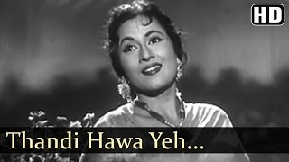 Thandi Hawa Yeh Chandni Suhani  - Jhumroo Songs - Kishore Kumar - Madhubala - Filmigaane