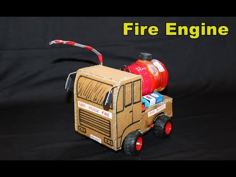 How To Make A FIRE Engine From Cardboard - RC Fire Engine