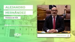 ALEJANDRO HERNÁNDEZ asegura que VOX trabajará para bajar aún más la presión fiscal en Andalucía