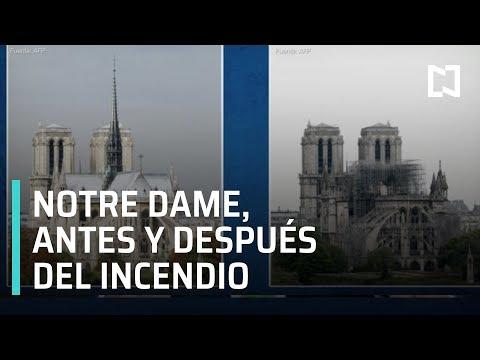 Notre Dame, antes y después del incendio - Paralelo 23