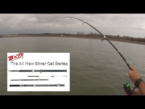 BnM Catfish Rods Gettin the Action! - Big Blue Catfish