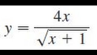y 4x sqrt x 1 find the first and second derivatives of the function