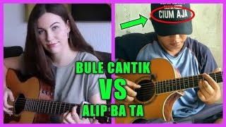GILA !!! BULE CANTIK INI SKILLNYA SETARA ALIF BA TA || EUROPE - CARRIE || FINGERSTYLE COVER