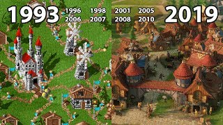 evolution of THE SETTLERS Games 1993 - 2019