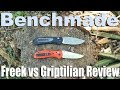 Benchmade 560 Freek Review.  Griptilian 551 MURDERER?  The batoning will eviscerate you!
