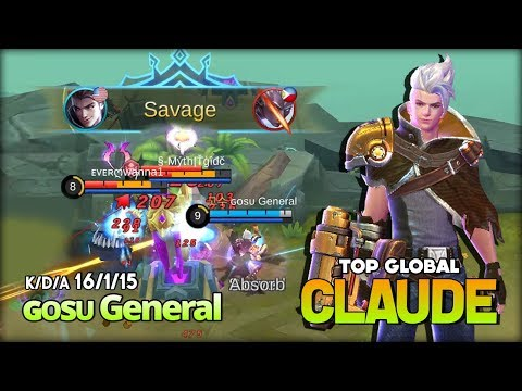 Golden Bullet Epic Savage! Claude 96% WinRate by ɢᴏsᴜ General Top Global Claude ~ Mobile Legends