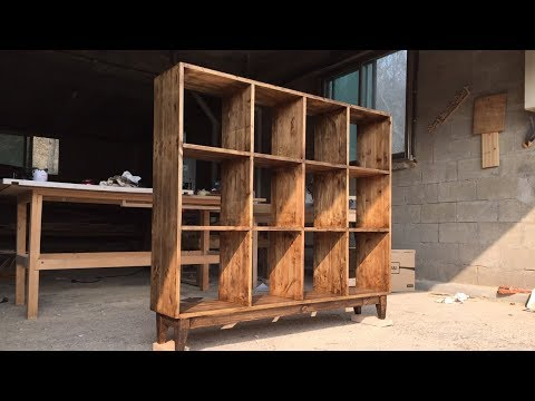 [목공 / Woodworking] 앤틱 원목 책장 / Making An Antique Bookshelf