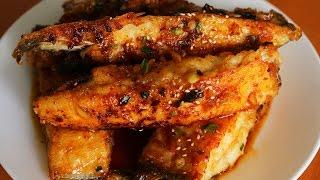Seasoned pan fried flatfish (Gajami yangnyeom-twigim: 가자미 양념튀김)