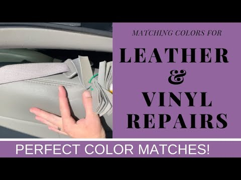 CAR LEATHER & VINYL REPAIR – PERFECT COLOR MATCH!!