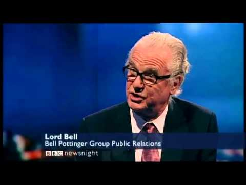 Lord Bell on  Newsnight 03 April 2012