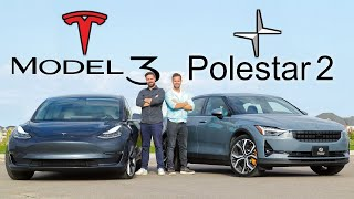 2021 Polestar 2 vs Tesla Model 3 // A Silent Nemesis Approaches