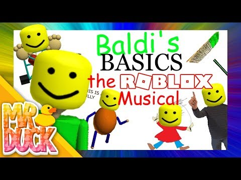 Baldi S Basics The Musical Roblox Edition Youtube