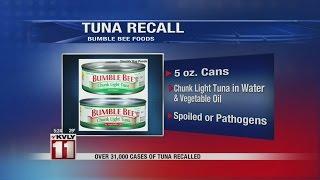 Canned Tuna Recall