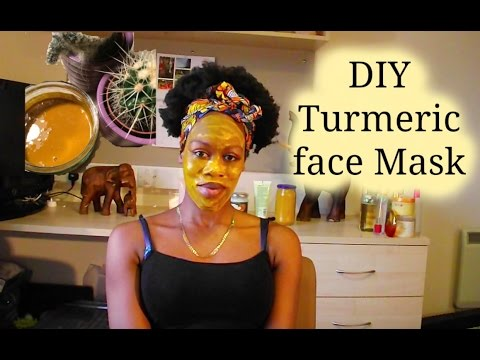 DIY Turmeric face mask for acne and brightening skin