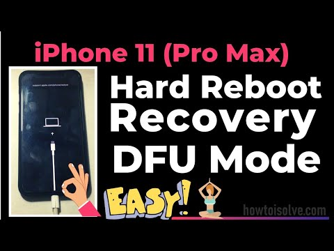 iPhone 11 (Pro Max): How to Force Restart, Enter Recovery mode, DFU mode for Update & Restore 2019