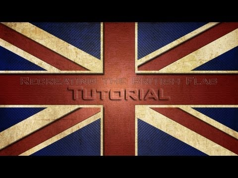 Lets Create The British Flag In Photoshop CS6/CS5 (Tutorial)