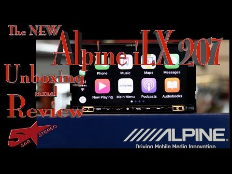 Alpine's new iLX 207 CarPlay and Android Auto radio unboxing and review