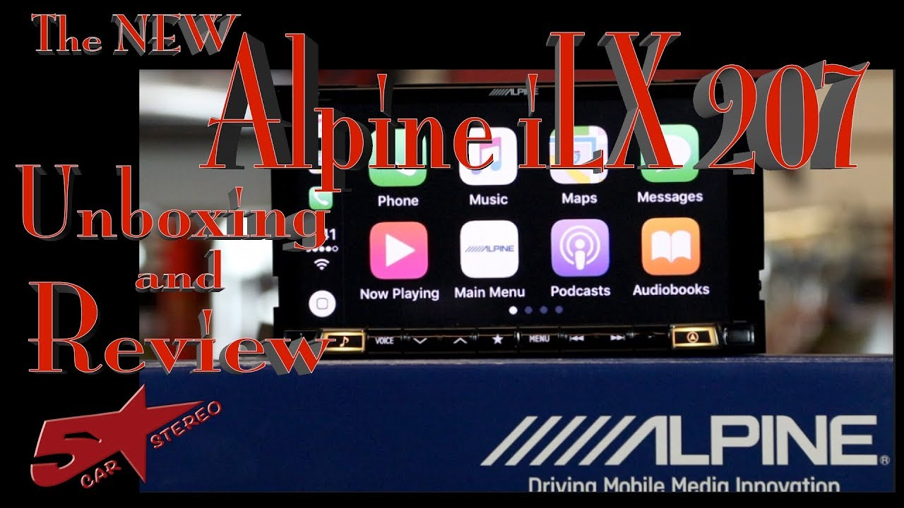 Alpine S New Ilx 207 Carplay And Android Auto Radio Unboxing And