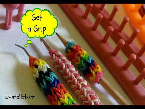 LOOM KNIT A GRIP:  How to Make a Grip for Your Hook - Pencil on any Loom - EASY