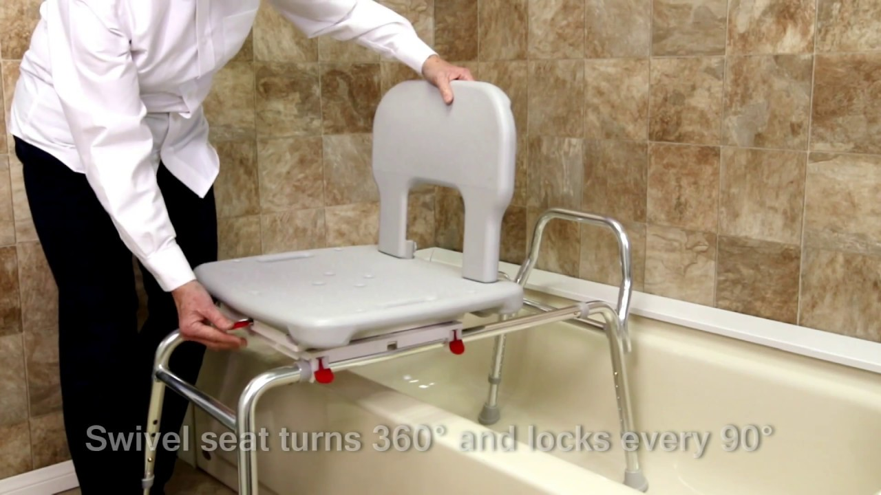 55662 - Bariatric Swivel Sliding Transfer Bench by Eagle Health ...