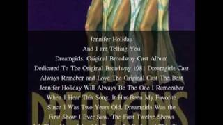 Jennifer Holiday, And I am Telling You, Dreamgirls Original Broadway Show 1981