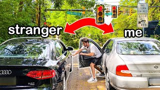 Switching Cars With Strangers At Red Lights